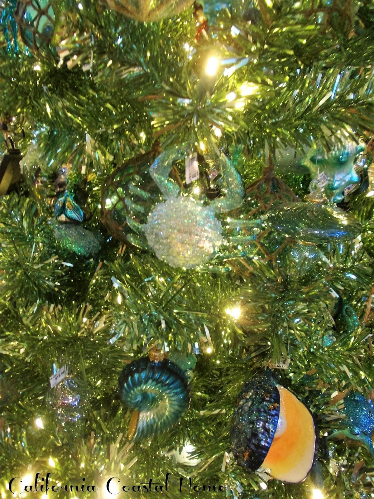 an aquatic christmas inspiration tree 2015 california coastal living